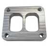 T4 Dual Entry Turbine Inlet Flange CNC 16mm Pre-Tapped - Click for more info