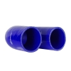 Silicone Elbow 180 Deg x 6 inch Leg Blue - Click for more info