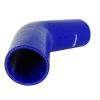 Silicone Elbow 45-Deg x 6 inch Leg Blue - Click for more info
