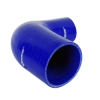 Silicone Elbow Reducing 90 Deg x 6 inch Leg Blue - Click for more info